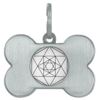 Hexagon Gem1 Pet ID Tag
