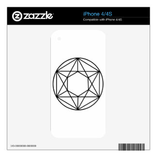 Hexagon Gem2 Decals For The iPhone 4S