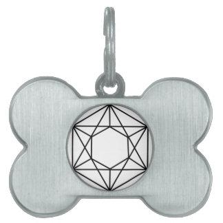 Hexagon Gem2 Pet Name Tag