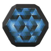 Hexagon Geo Pattern Black Bluetooth Speaker