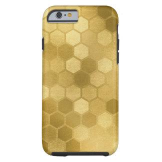 Hexagon Honeycomb neutral earth tones Tough iPhone 6 Case