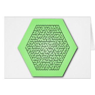 Hexagon Maze Greeting Card