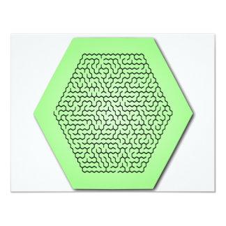 Hexagon Maze Invitation