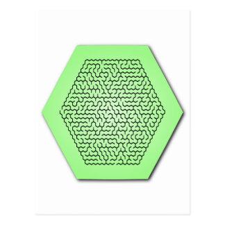 Hexagon Maze Postcard