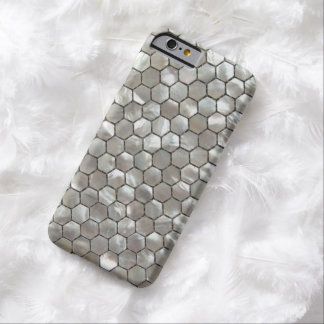 Hexagon Mother of Pearls Tile Patterns Barely There iPhone 6 Case