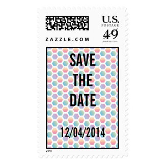 Hexagon Multicolored Pattern Stamps