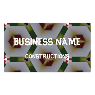 Hexagon pattern Double-Sided standard business cards (Pack of 100)