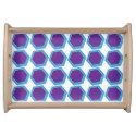 Hexagon Pattern Food Trays