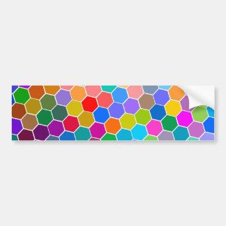 Hexagon Pebbles Bumper Sticker