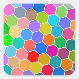 Hexagon Pebbles Square Sticker