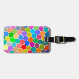 Hexagon Pebbles Tag For Luggage
