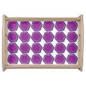 Hexagon Purple Magenta Service Tray