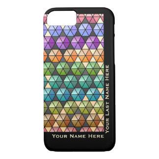 Hexagon Quilt Warm Rainbow IP6 (Personalized) iPhone 8/7 Case