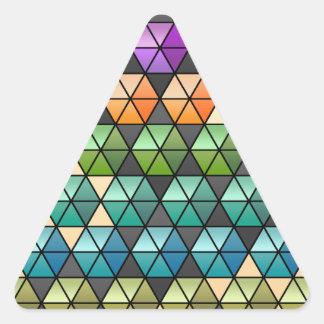 Hexagon Quilt (Warm Rainbow) Triangle Sticker