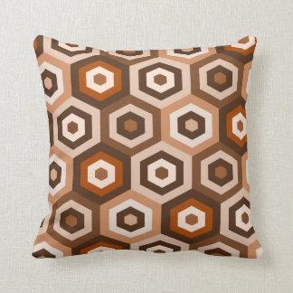 Hexagon retro style throw pillow