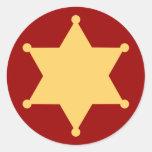 Hexagon sheriff star hexagon sheriff's badge
