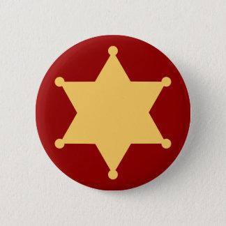 Hexagon sheriff star hexagon sheriff's badge pinback button
