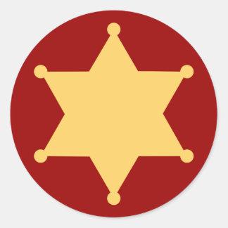 Hexagon sheriff star hexagon sheriff's badge sticker