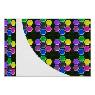 HEXAGON Sparkle BUTTONS Positive Energy LOWPRICE Poster