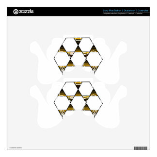Hexagon Star Gold PS3 Controller Skins