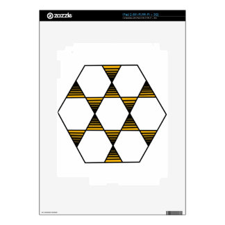 Hexagon Star Gold Skins For iPad 2