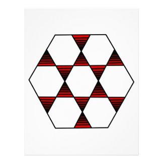 Hexagon Star Red Letterhead