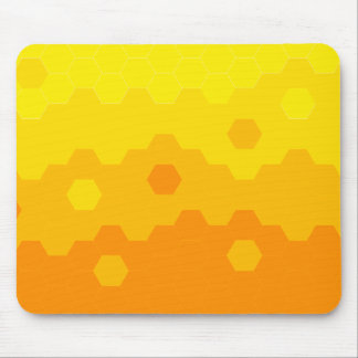 Hexagon Sunset Mouse Pad