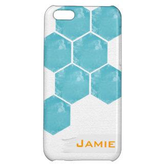 Hexagon Teal Customizable Phone Case iPhone 5C Case