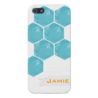 Hexagon Teal Customizable Phone Case Case For iPhone 5