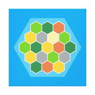 Hexagon Terrain Map Design Canvas Print