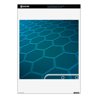 Hexagon Tron PS3 Slim Decal