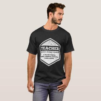 Hexagon Vintage Faded Teacher Definition Shirt