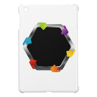Hexagon with colorful arrows iPad mini cover