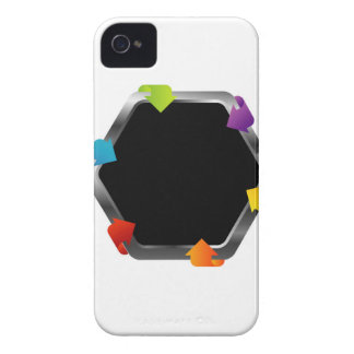 Hexagon with colorful arrows iPhone 4 Case-Mate case