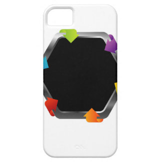 Hexagon with colorful arrows iPhone SE/5/5s case