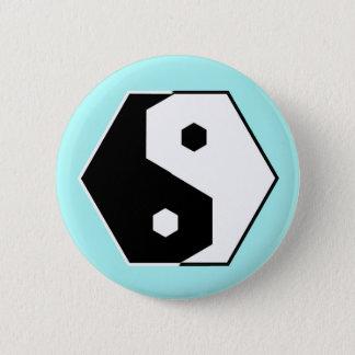 Hexagon Yin Yang Pinback Button