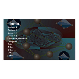 Hexagonal bipyramids in orbit photo Double-Sided standard business cards (Pack of 100)