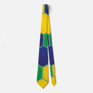 Hexagonal Brazil Design Neck Tie