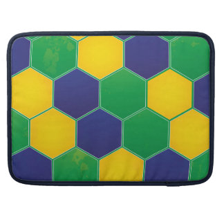 Hexagonal Brazil Design Sleeve For MacBook Pro