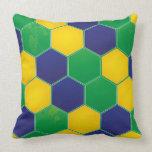 Hexagonal Brazil Design Throw Pillow