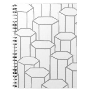 Hexagonal Columns Notebook