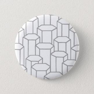 Hexagonal Columns Pinback Button