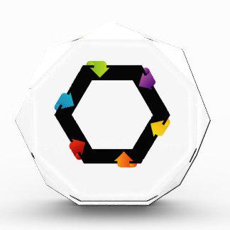 Hexagonal design element acrylic award