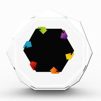 Hexagonal design element award