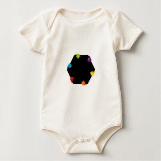 Hexagonal design element baby bodysuit