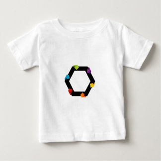 Hexagonal design element baby T-Shirt