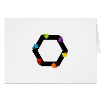 Hexagonal design element card