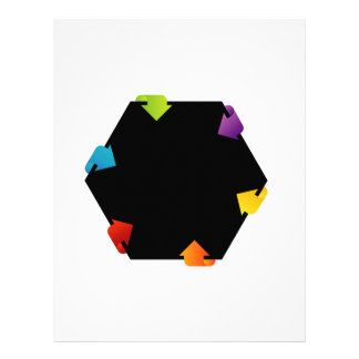 Hexagonal design element letterhead