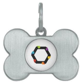 Hexagonal design element pet tag
