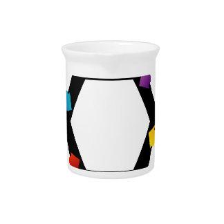 Hexagonal design element pitcher